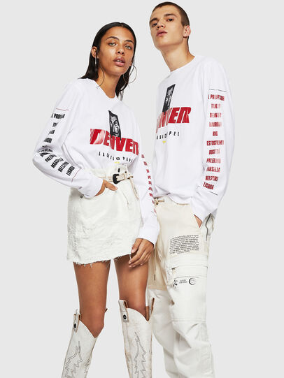 Diesel - LCP-T-JUST-LS-DENVER, White - T-Shirts - Image 6