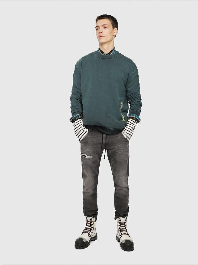 Diesel - Krooley JoggJeans 069EM, Black/Dark grey - Jeans - Image 4