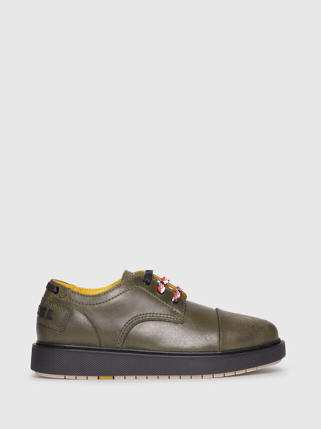 Diesel - D-CAGE DB CT, Olive Green - Lace Ups and Mocassins - Image 1