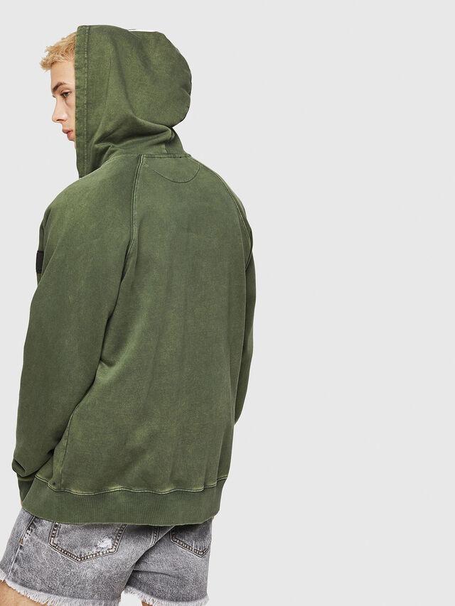 Diesel - S-GIM-HOOD-ZIP, Dark Green - Sweaters - Image 2