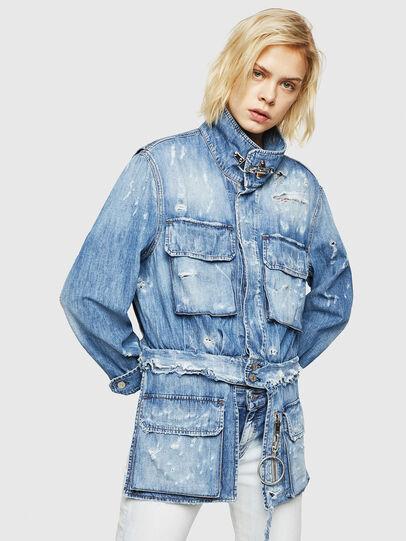Diesel - DE-MERYL, Blue Jeans - Denim Jackets - Image 1