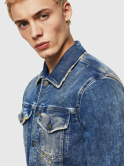 Diesel - NHILL-TW, Medium blue - Denim Jackets - Image 4