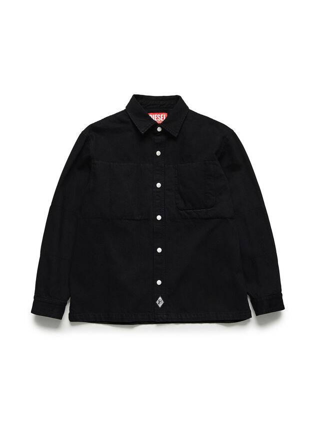 Diesel - GR02-B301, Black - Denim Shirts - Image 1