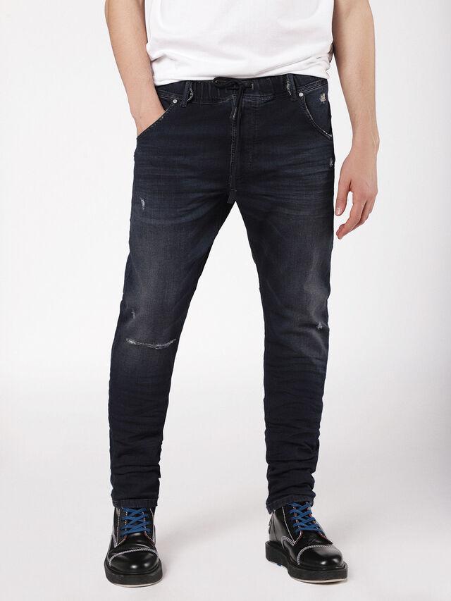 Diesel - Krooley JoggJeans 0699W, Dark Blue - Jeans - Image 1