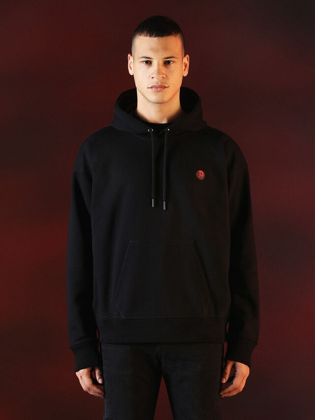 Diesel - DVL-SWEAT-SPECIAL COLLECTION, Black - Sweaters - Image 2