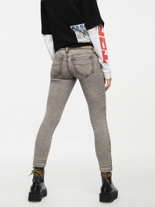 Diesel - Skinzee Low Zip 084UP, Light Grey - Jeans - Image 2