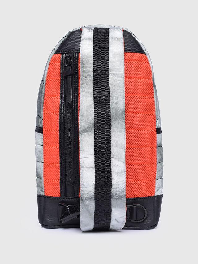Diesel - F-HEYODA MONO, Light Grey - Backpacks - Image 2
