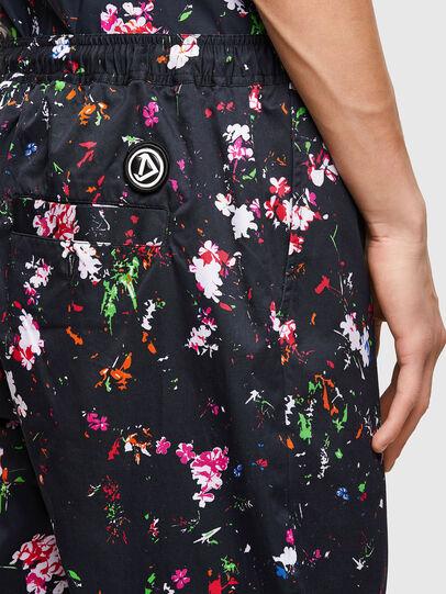Diesel - P-TOLLER-FLOWER, Black - Pants - Image 4