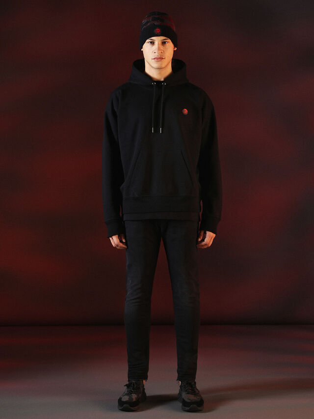 Diesel - DVL-SWEAT-SPECIAL COLLECTION, Black - Sweaters - Image 4