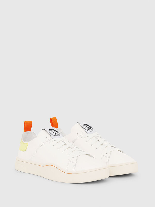 Diesel - S-CLEVER LS W, White/Yellow - Sneakers - Image 2