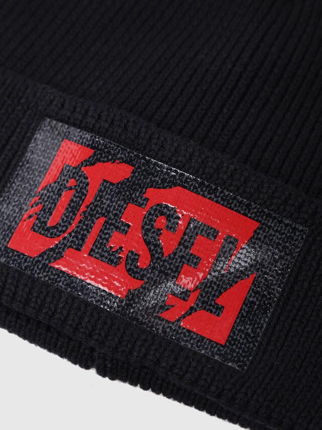 Diesel - K-LOGY, Black - Caps, Hats and Gloves - Image 3