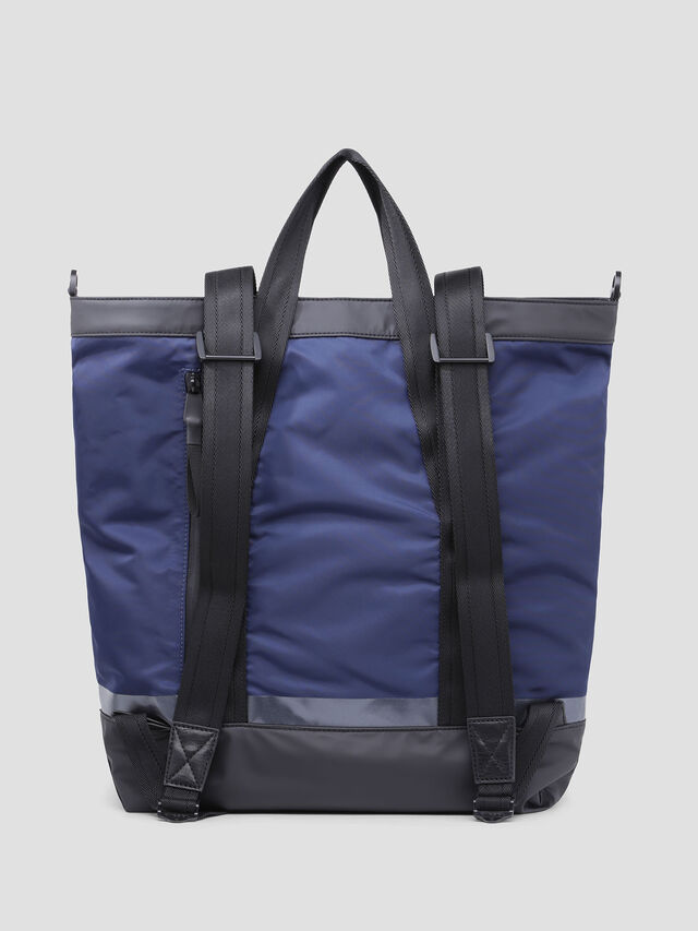 Diesel - VOLPAGO TOTE, Blue/Black - Shopping and Shoulder Bags - Image 2