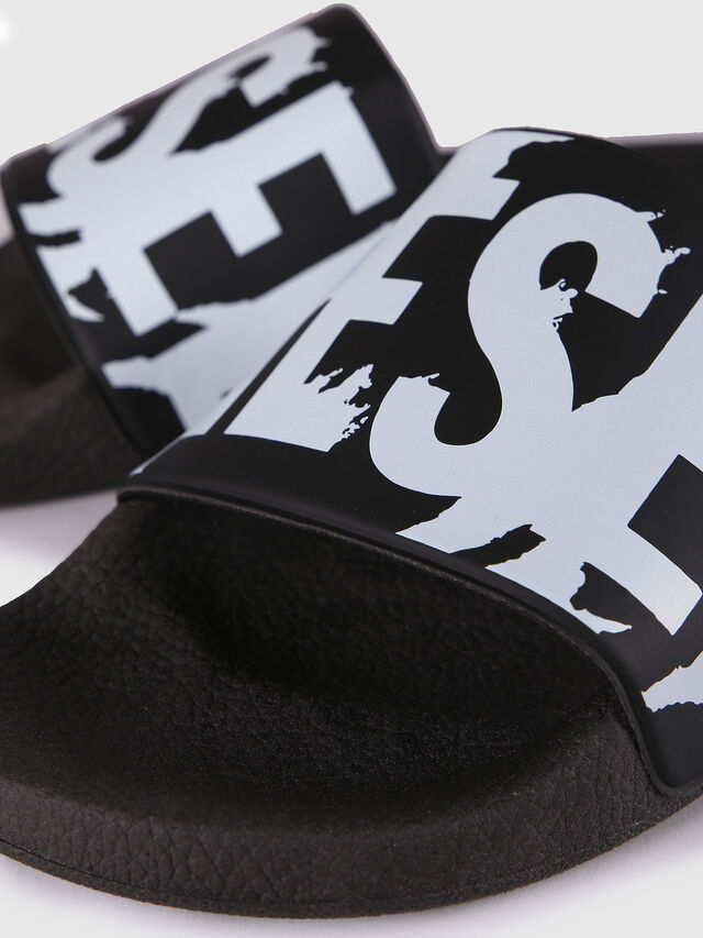 Diesel - SA-MARAL, Black/White - Slippers - Image 3