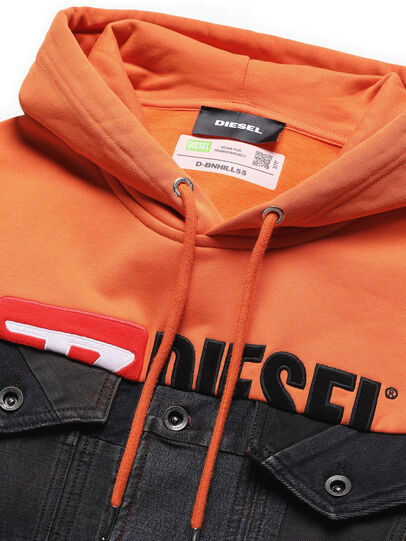 Diesel - D-BNHILL55, Orange - Denim Jackets - Image 3