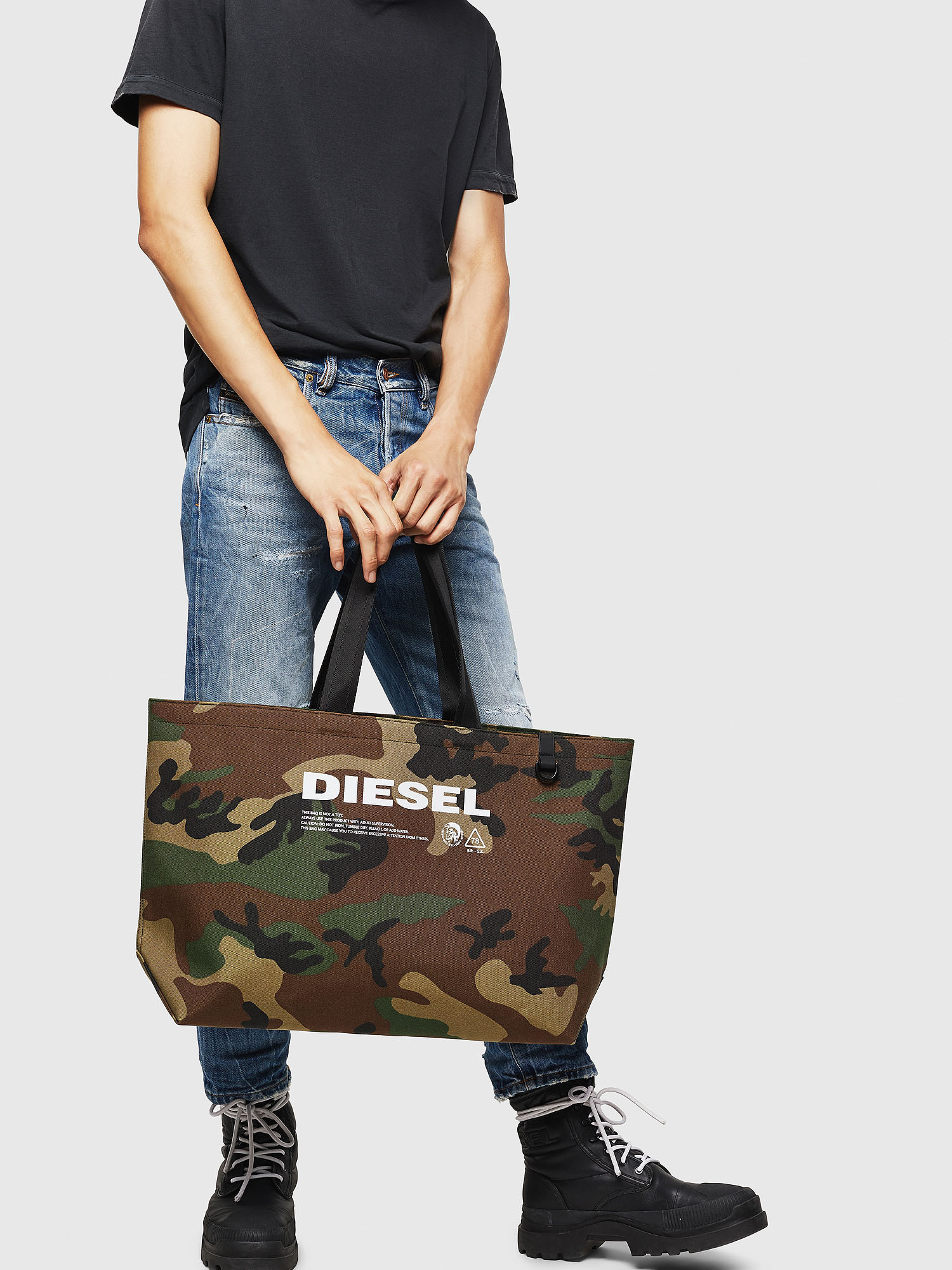 Diesel - D-THISBAG SHOPPER L,  - Shopping and Shoulder Bags - Image 6